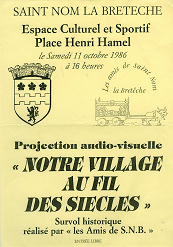 Affiche du spectacle audio-visuel
